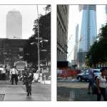 World Trade Center in 2001 and 2011