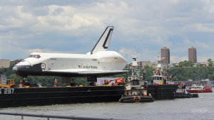 Space Shuttle Enterprise Sails + Lands on the Intrepid (New York City)