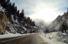 Poudre Canyon Time Lapse_sun reflection