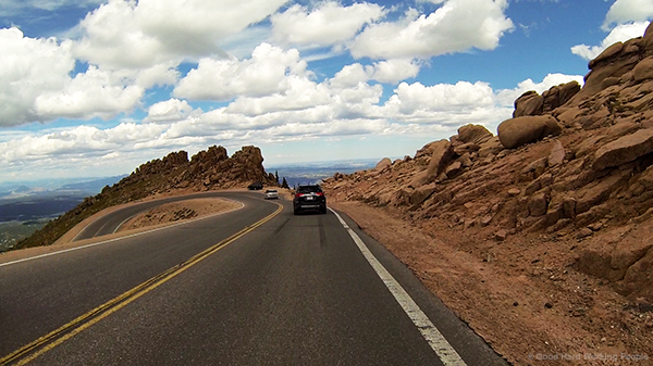 driving down pikes peak highway in a colorado minute 291
