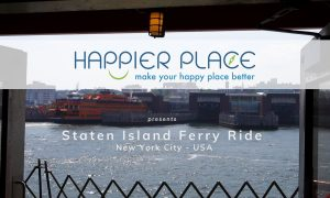 View of Staten Island from Staten Island Ferry in NYC, New York - Happier Place